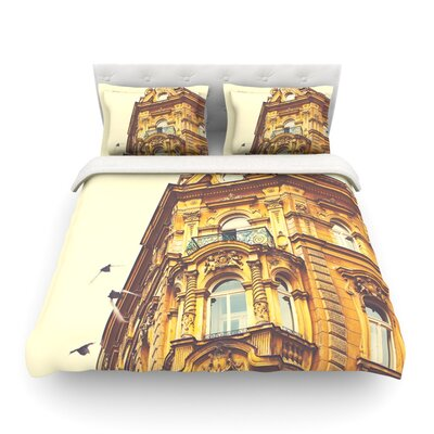 Prague Morning by Ann Barnes Building Featherweight Duvet Cover Size: King/California King, Fabric: Lightweight Polyester