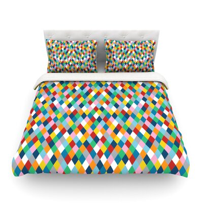 Abstraction by Project M Woven Duvet Cover Size: Twin