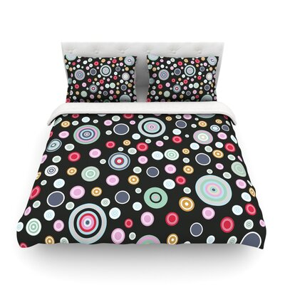 Circle Circle II by Suzanne Carter Featherweight Duvet Cover Size: Queen, Fabric: Woven Polyester