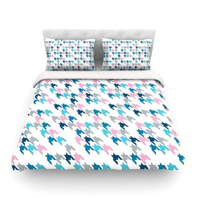 Pink Tooth by Project M Woven Duvet Cover Size: Twin