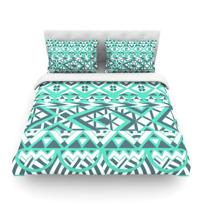 Tribal Simplicity by Pom Graphic Design Featherweight Duvet Cover Size: Queen, Fabric: Cotton