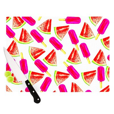 "Strawberry & Watermelon by Sreetama Ray Cutting Board Size: 0.5"" H x 15.75"" W x 11.5"" D SR1019ACB02"