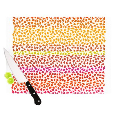 "Sunset Arrows by Sreetama Ray Abstract Cutting Board Size: 0.5"" H x 15.75"" W x 11.5"" D SR1020ACB02"
