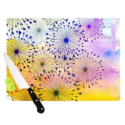"Bursting Blossoms by Sreetama Ray Cutting Board Size: 0.5"" H x 15.75"" W x 11.5"" D SR1024ACB02"