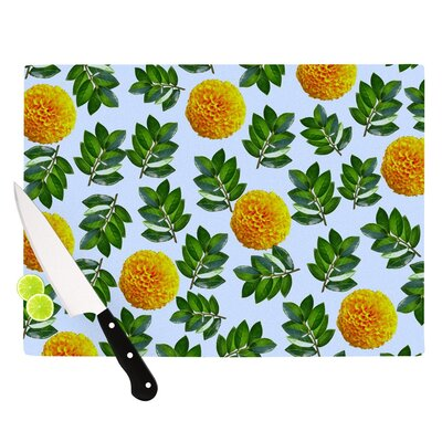 "More Marigold by Sreetama Ray Cutting Board Size: 0.5"" H x 15.75"" W x 11.5"" D SR1025ACB02"