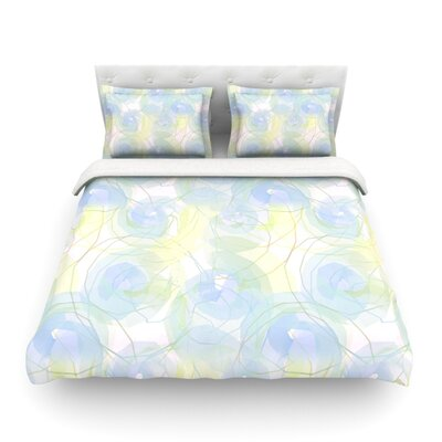 Paper Flower by Alison Coxon Featherweight Duvet Cover Size: Queen