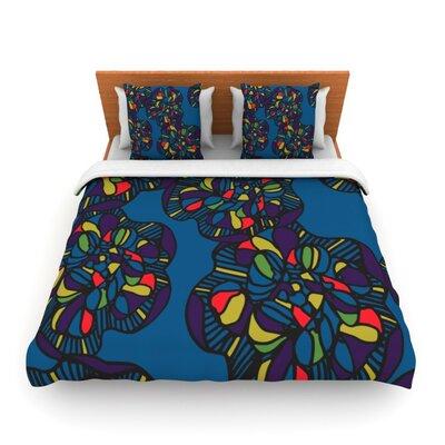 Mushroom Flower by Sonal Nathwani Woven Duvet Cover Size: Queen