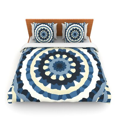 Ribbon Mandala by Laura Nicholson Woven Duvet Cover Size: Twin