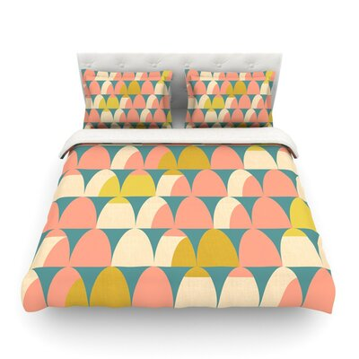 Scallops by Michelle Drew Woven Duvet Cover Size: Twin