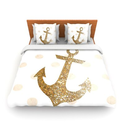 Glitter Anchor by Nika Martinez Woven Duvet Cover Size: Twin