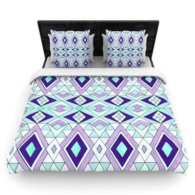 Geometric Flow by Pom Graphic Woven Duvet Cover Size: Queen