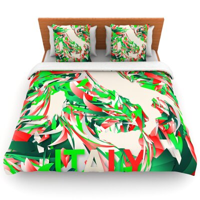 Italy by Danny Ivan Woven Duvet Cover Size: King/California King