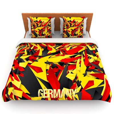 Germany by Danny Ivan Woven Duvet Cover Size: Queen