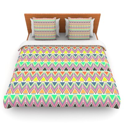 Pattern Play Multi by Nandita Singh Woven Duvet Cover Size: Twin