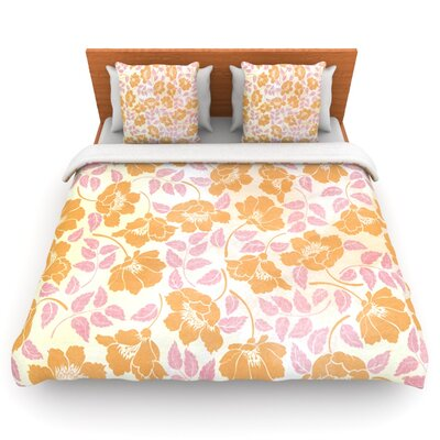 Sun Kissed Petals by Heidi Jennings Woven Duvet Cover Size: Twin