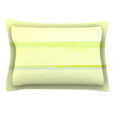 Lemons by CarolLynn Tice Featherweight Pillow Sham Size: King, Fabric: Cotton