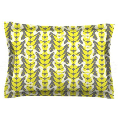 Whirling Leaves by Miranda Mol Featherweight Pillow Sham Size: Queen, Fabric: Woven Polyester