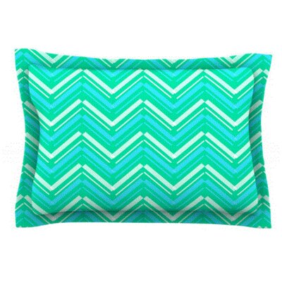 Symetrical by CarolLynn Tice Featherweight Pillow Sham Size: King, Fabric: Woven Polyester