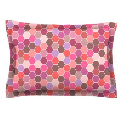 Blush by Nandita Singh Featherweight Pillow Sham Size: King, Fabric: Woven Polyester