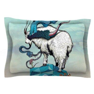 Mat Miller Seeking New Heights Blue GoatFeatherweight Sham Size: Queen, Fabric: Woven Polyester