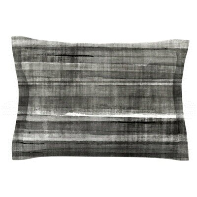 Gray Accent by CarolLynn Tice Featherweight Pillow Sham Size: Queen, Fabric: Woven Polyester