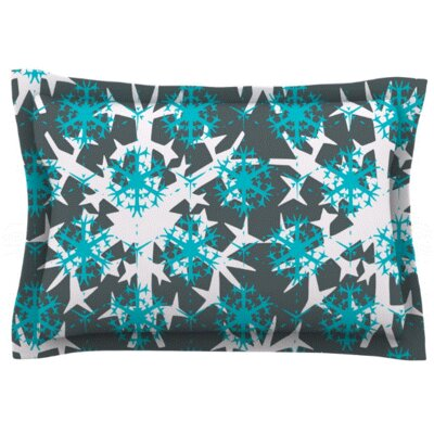 Tree Snow Flakes by Miranda Mol Featherweight Pillow Sham Size: King, Fabric: Cotton