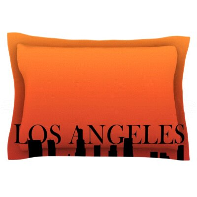 Los Angeles Featherweight Pillow Sham Size: Queen, Fabric: Woven Polyester