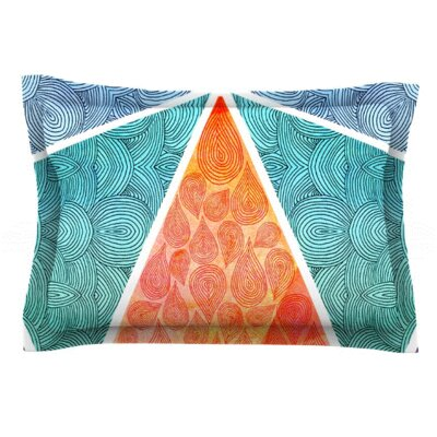 Pyramids of Giza by Pom Graphic Design Featherweight Pillow Sham Size: King, Fabric: Woven Polyester
