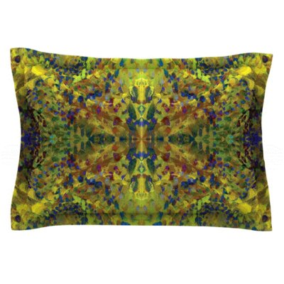 Yellow Jacket by Nikposium Woven Pillow Sham Size: King