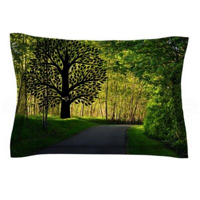 Love Nature by Robin Dickinson Featherweight Pillow Sham Size: King, Fabric: Cotton