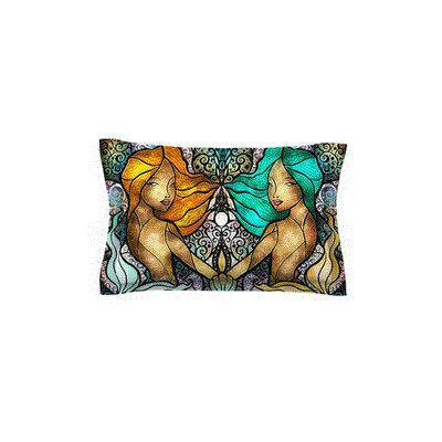 Mermaid Twins by Mandie Manzano Featherweight Pillow Sham Size: King, Fabric: Woven Polyester
