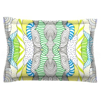 Wormland by Monika Strigel Featherweight Pillow Sham Size: Queen, Fabric: Woven Polyester