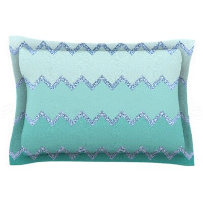 Avalon by Monika Strigel Woven Pillow Sham Size: King, Color: Coral/White