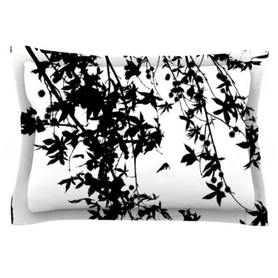 Black on White by Ingrid Beddoes Featherweight Pillow Sham Size: King, Fabric: Woven Polyester