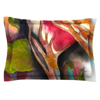 Glimpse by Kristin Humphrey Featherweight Pillow Sham Size: Queen, Fabric: Woven Polyester
