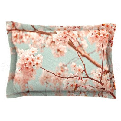 Blossoms All Over by Iris Lehnhardt Featherweight Pillow Sham Size: Queen, Fabric: Cotton