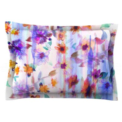 Floral Ombre by Nikki Strange Featherweight Pillow Sham Size: King, Fabric: Woven Polyester