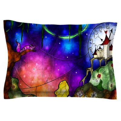Mandie Manzano Fairy Tale Alice in Wonderland Featherweight Sham Size: King, Fabric: Woven Polyester