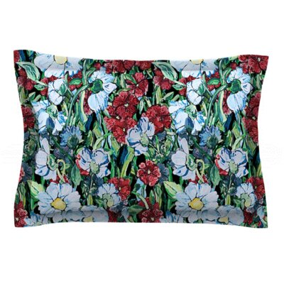 Giardino by DLKG Design Featherweight Pillow Sham Size: Queen, Fabric: Woven Polyester