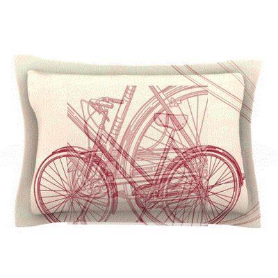 Bicycle by Sam Posnick Featherweight Pillow Sham Size: Queen, Fabric: Woven Polyester