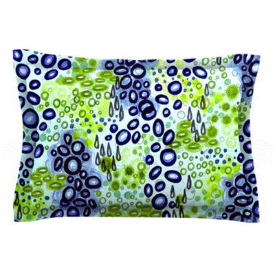 Circular Persuasion by Ebi Emporium Woven Pillow Sham Size: King, Color: Blue/Green