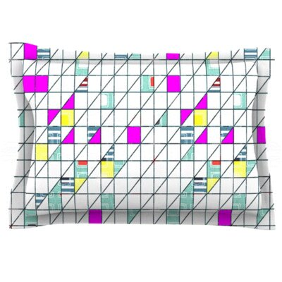 Squares by Michelle Drew Featherweight Pillow Sham Size: Queen, Fabric: Woven Polyester