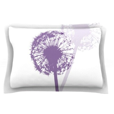 Dandelion by Monika Strigel Featherweight Pillow Sham Size: King, Fabric: Cotton