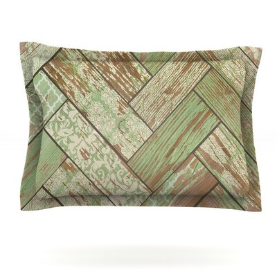Patina by Heidi Jennings Featherweight Pillow Sham Size: Queen, Fabric: Cotton