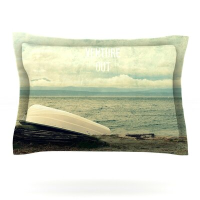 Venture Out by Robin Dickinson Featherweight Pillow Sham Size: Queen, Fabric: Cotton