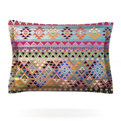 Tribal Native by Nika Martinez Woven Pillow Sham Size: King