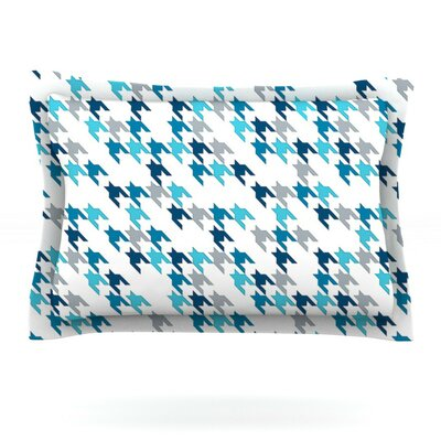 Blue Tooth by Project M Woven Pillow Sham Size: King