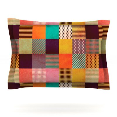 Decorative Pixel by Louise Machado Featherweight Pillow Sham Size: King, Fabric: Cotton