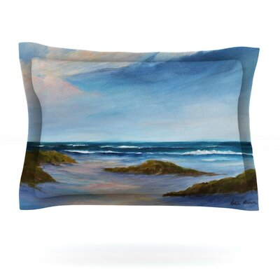Summer Showers by Rosie Brown Featherweight Pillow Sham Size: King, Fabric: Cotton