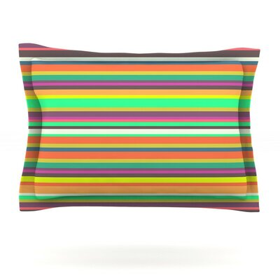 Pattern Play Stripes by Nandita Singh Featherweight Pillow Sham Size: King, Fabric: Cotton